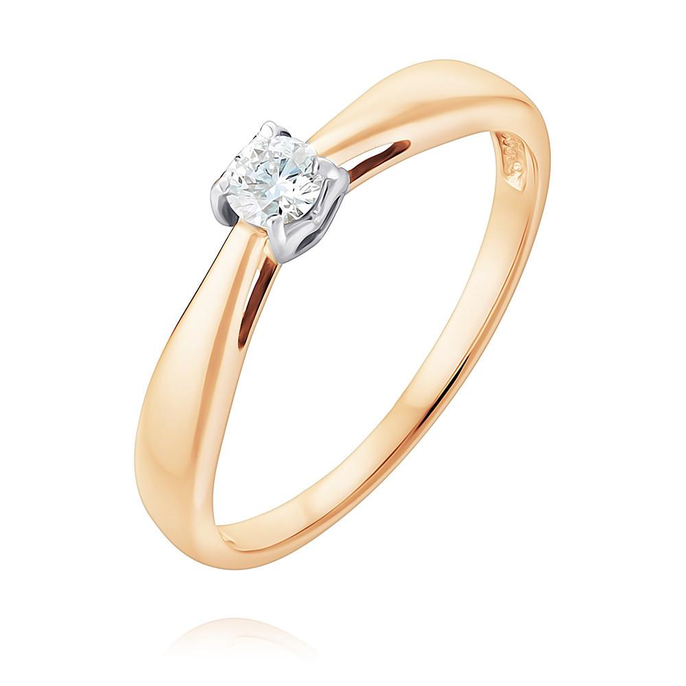 Купить Кольцо из красного золота 585 пробы с бриллиантом, SOKOLOV, Красный, Для женщин, 1452315/01-А50Д-41