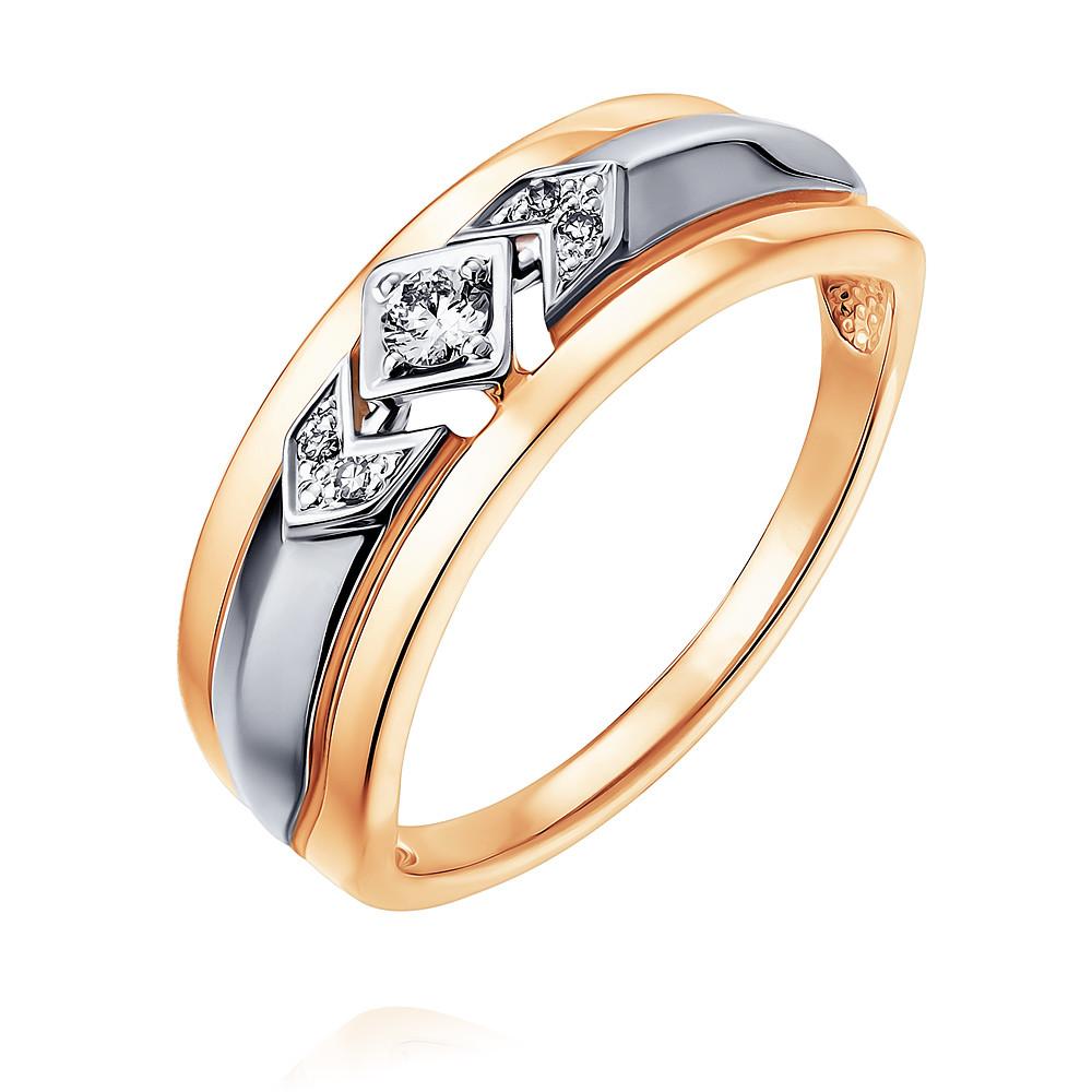 Купить Кольцо из красного золота 585 пробы с бриллиантом, SOKOLOV, Красный, Для женщин, 1452429/01-А50Д-41