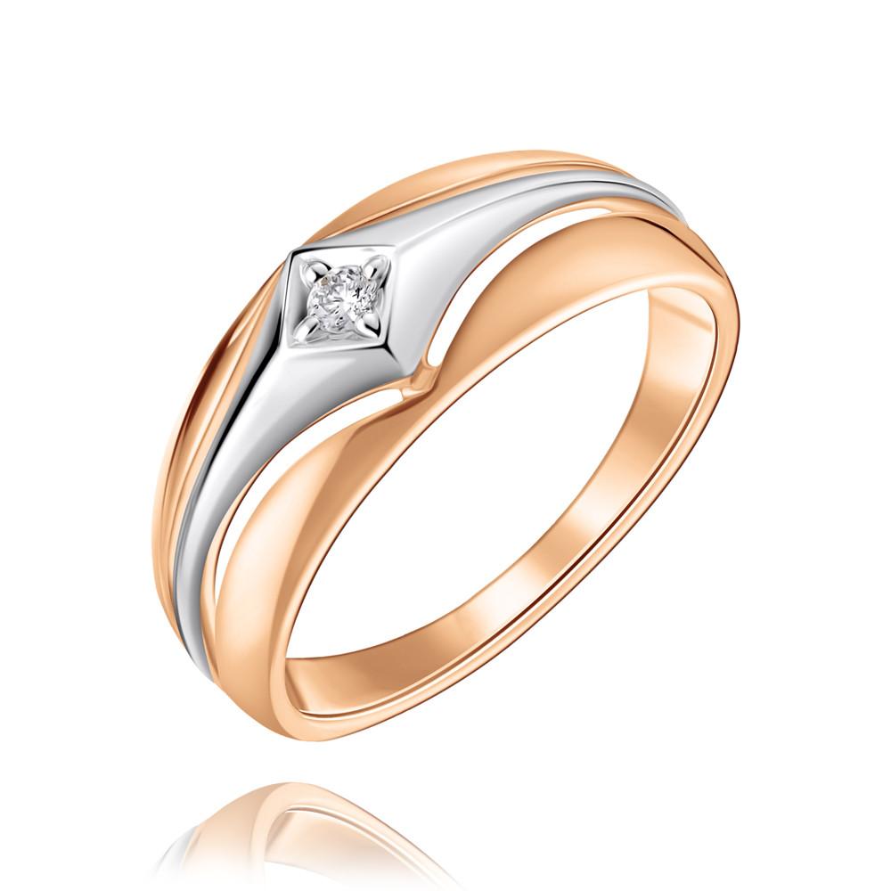 Кольцо из красного золота 585 пробы с бриллиантом, SOKOLOV, Красный, Для женщин, 1452430/01-А50Д-41  - купить со скидкой