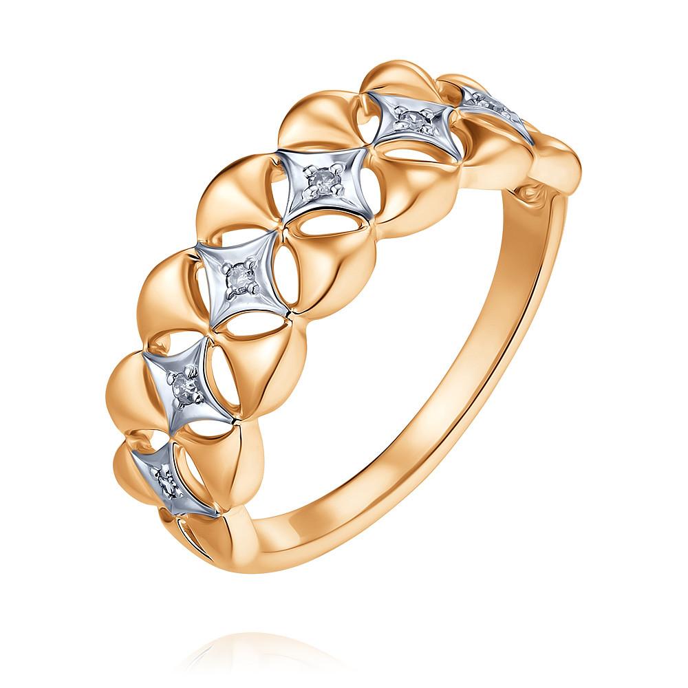 Купить Кольцо из красного золота 585 пробы с бриллиантом, SOKOLOV, Красный, Для женщин, 1452564/01-А50Д-41