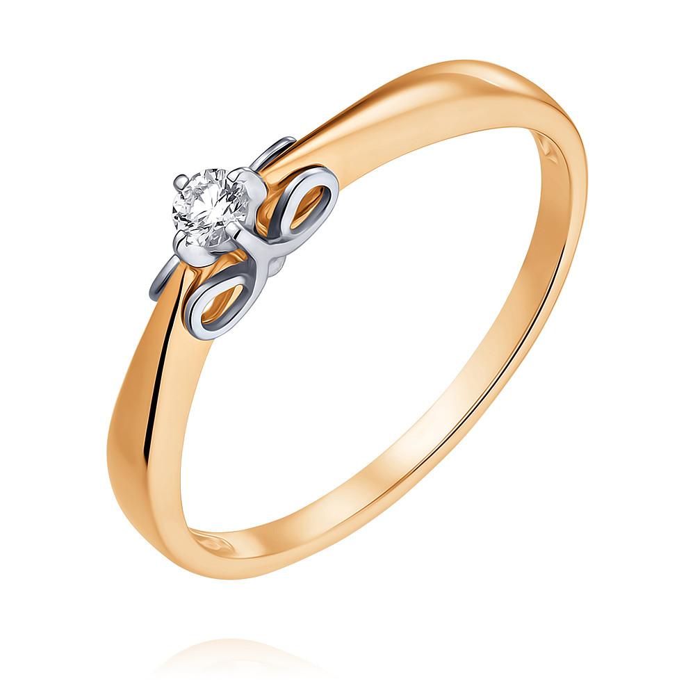 Купить Кольцо из красного золота 585 пробы с бриллиантом, SOKOLOV, Красный, Для женщин, 1452587/01-А50Д-41