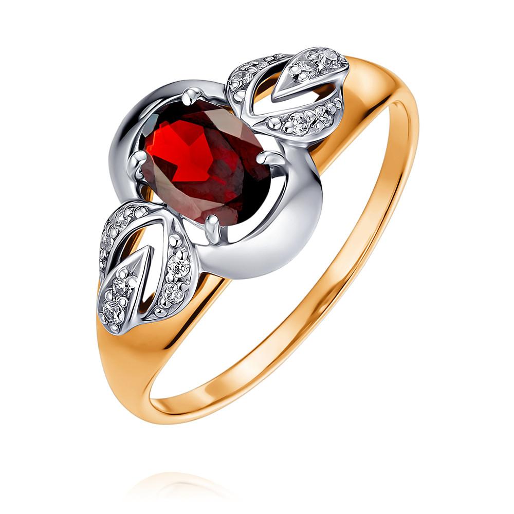 Кольцо из красного золота 585 пробы с гранатомКольца<br><br><br>Вставка: Гранат<br>Вес: 1.98 г<br>Артикул: 1452721/01-А50Д-655<br>Цвет: Красный<br>Металл: Золото<br>Проба: 585<br>Пол: Для женщин