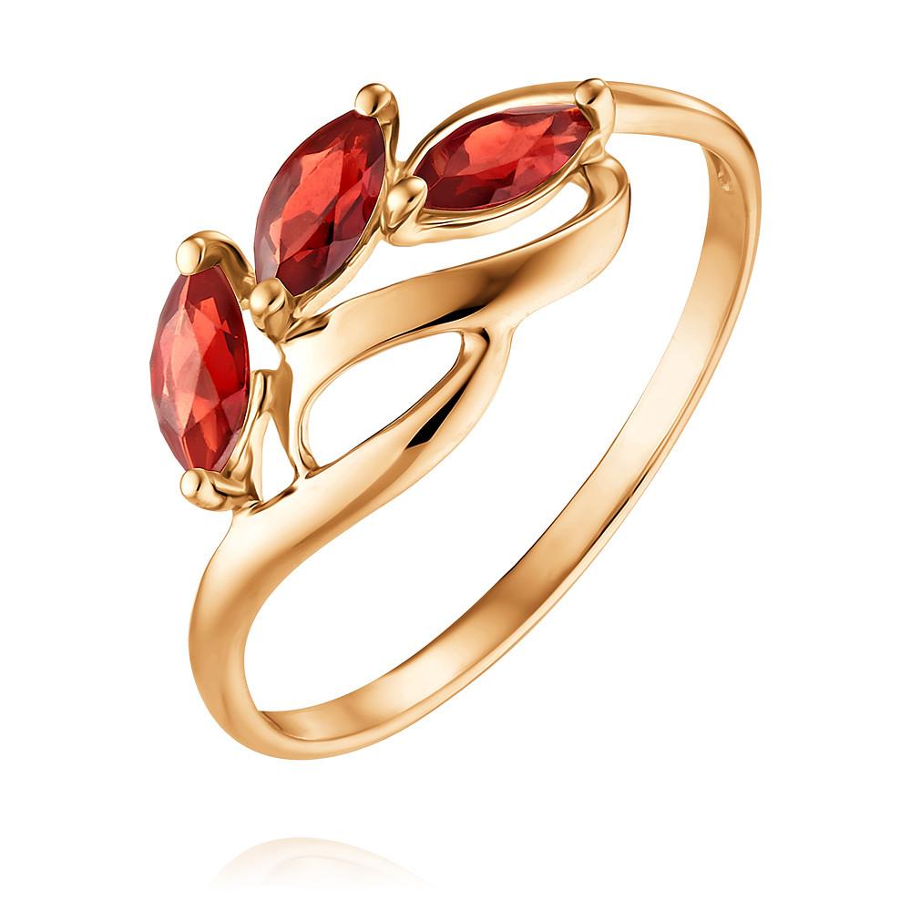 Купить Кольцо из красного золота 585 пробы с гранатом, SOKOLOV, Красный, Для женщин, 1452722/01-А50-655