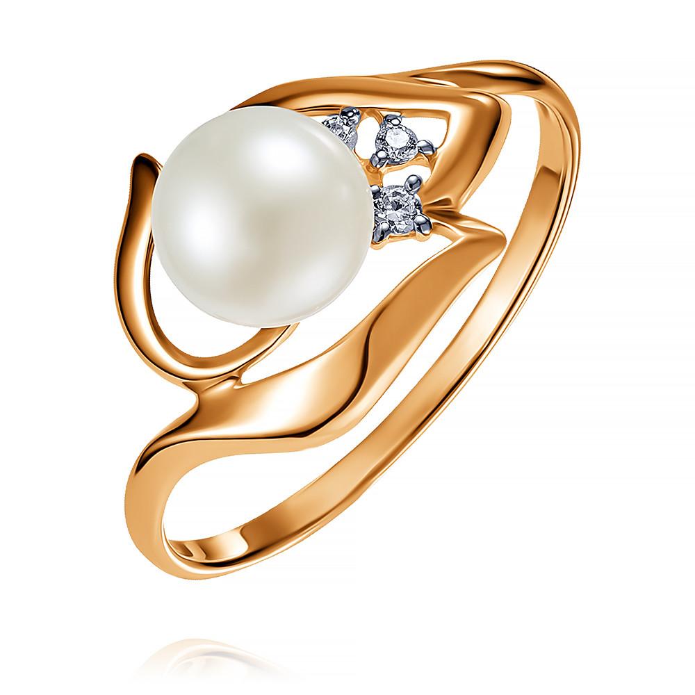 Купить Кольцо из красного золота 585 пробы с жемчугом, SOKOLOV, Красный, Для женщин, 1453648/01-А50Д-727