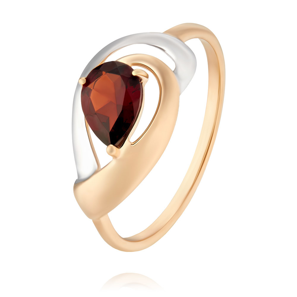 Купить Кольцо из красного золота 585 пробы с гранатом, SOKOLOV, Красный, Для женщин, 1453649/01-А50Д-655