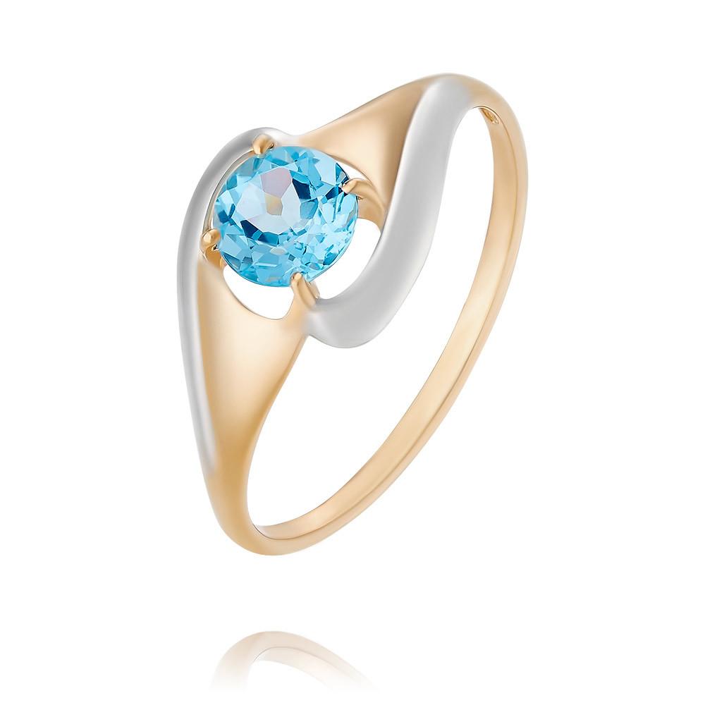 Купить Кольцо из красного золота 585 пробы с топазом, SOKOLOV, Красный, Для женщин, 1453655/01-А50Д-659