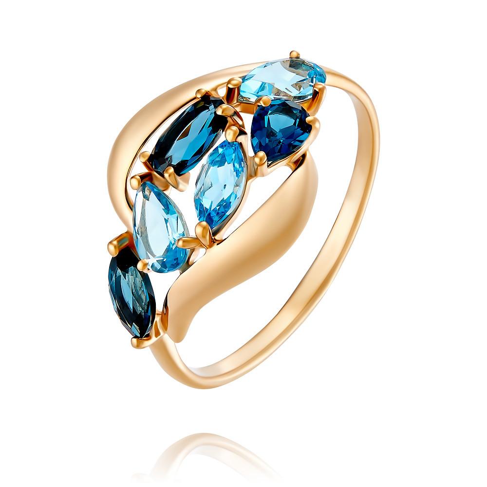 Купить Кольцо из красного золота 585 пробы с миксом вставок, SOKOLOV, Красный, Для женщин, 1454266/01-А50-670