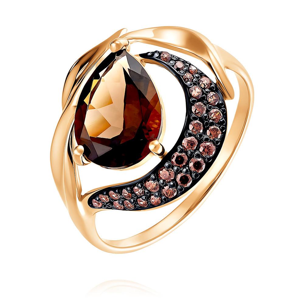 Купить Кольцо из красного золота 585 пробы с кварцем, SOKOLOV, Красный, Для женщин, 1454267/01-А50Д-726