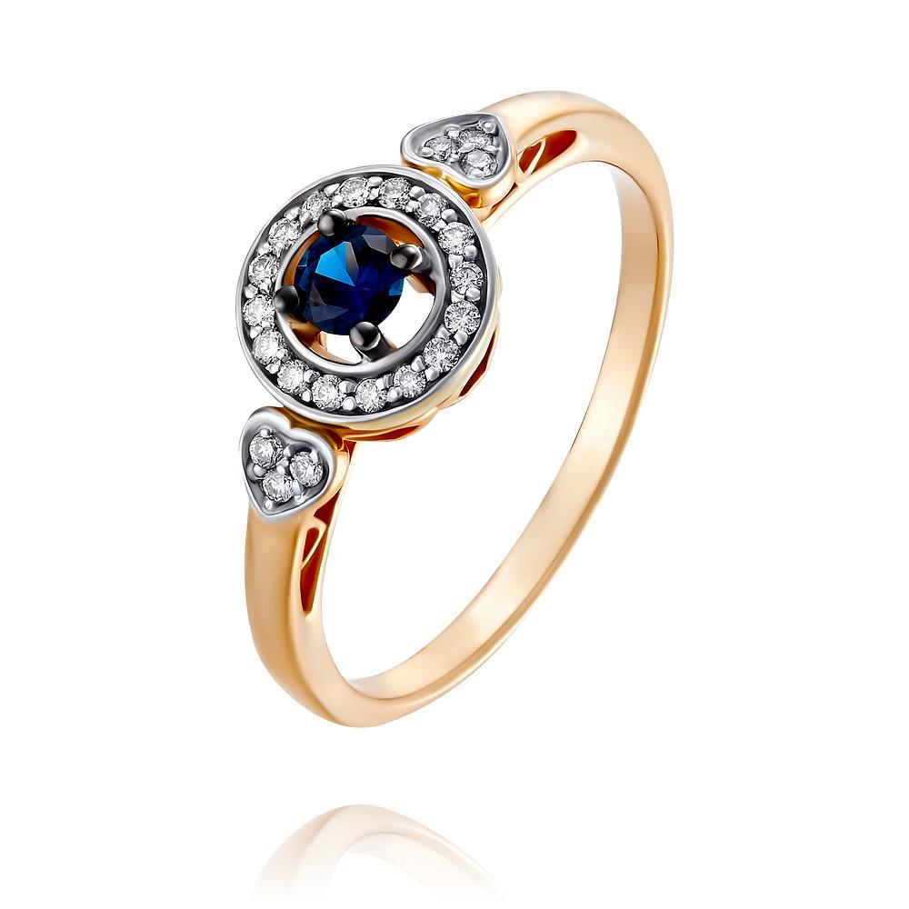 Кольцо из красного золота 585 пробы с бриллиантом, сапфиромКольца<br><br><br>Вставка: Бриллиант, Сапфир<br>Вес: 2.45 г<br>Артикул: 1454409/01-А50Д-432<br>Цвет: Красный<br>Металл: Золото<br>Проба: 585<br>Пол: Для женщин