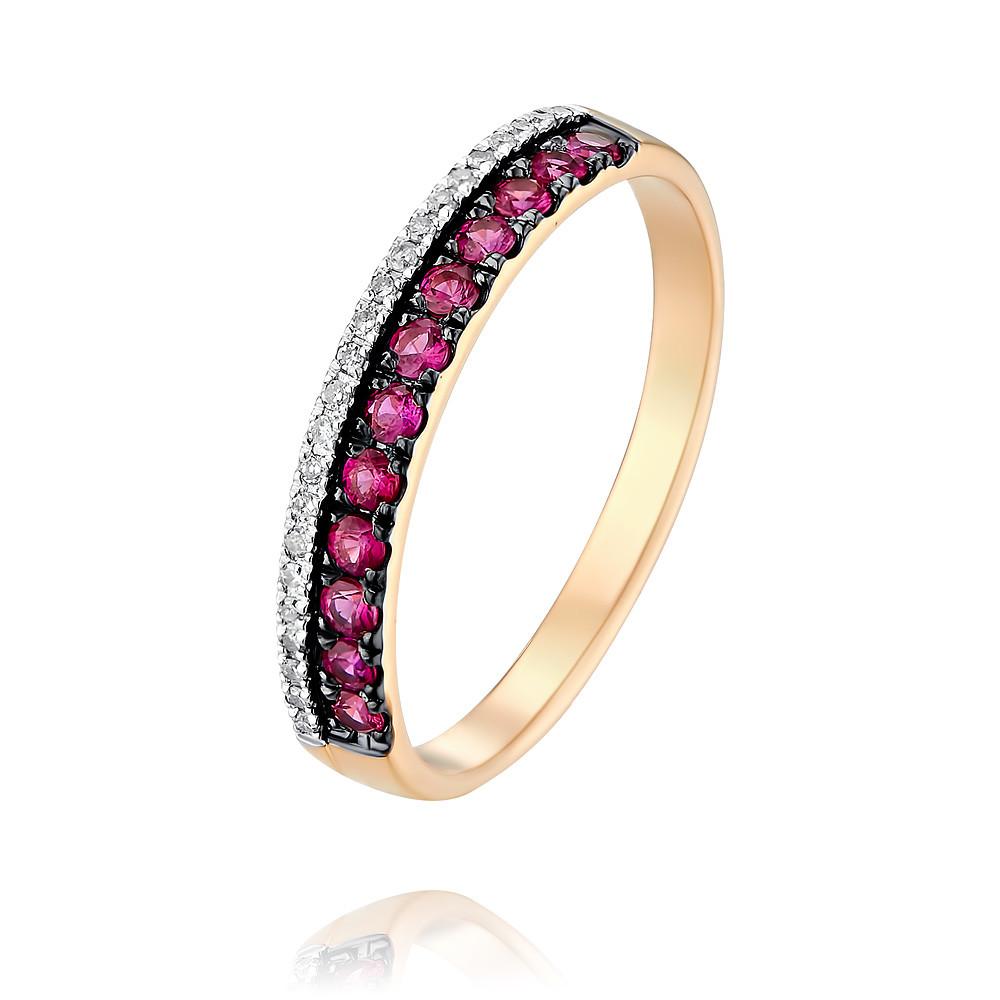 Купить Кольцо из красного золота 585 пробы с бриллиантом, рубином, SOKOLOV, Красный, Для женщин, 1454651/01-А50Д-431