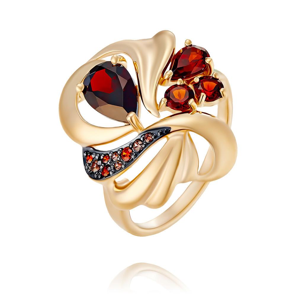 Купить Кольцо из красного золота 585 пробы с гранатом, SOKOLOV, Красный, Для женщин, 1454825/01-А50Д-655