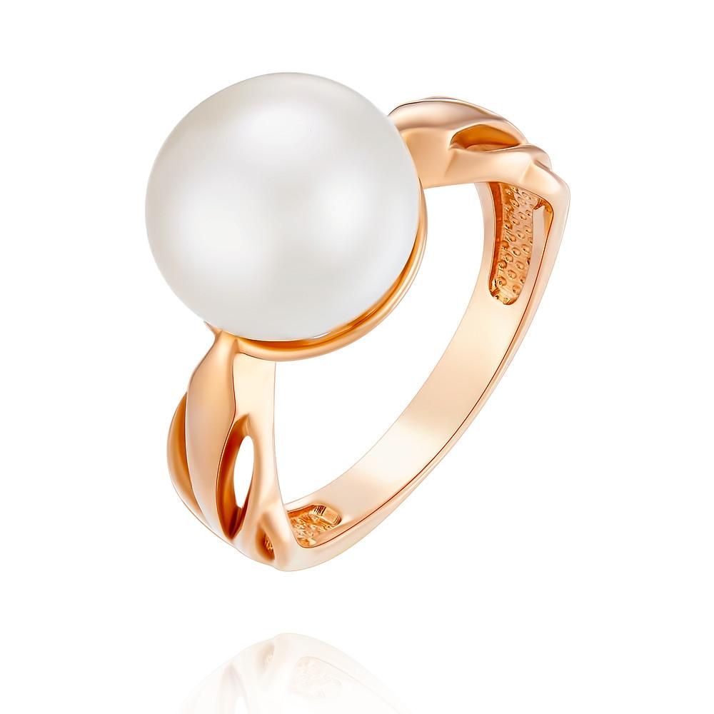 Кольцо из красного золота 585 пробы с жемчугомКольца<br><br><br>Вставка: Жемчуг<br>Вес: 5.13 г<br>Артикул: 1454872/01-А50-727<br>Цвет: Красный<br>Металл: Золото<br>Проба: 585<br>Пол: Для женщин