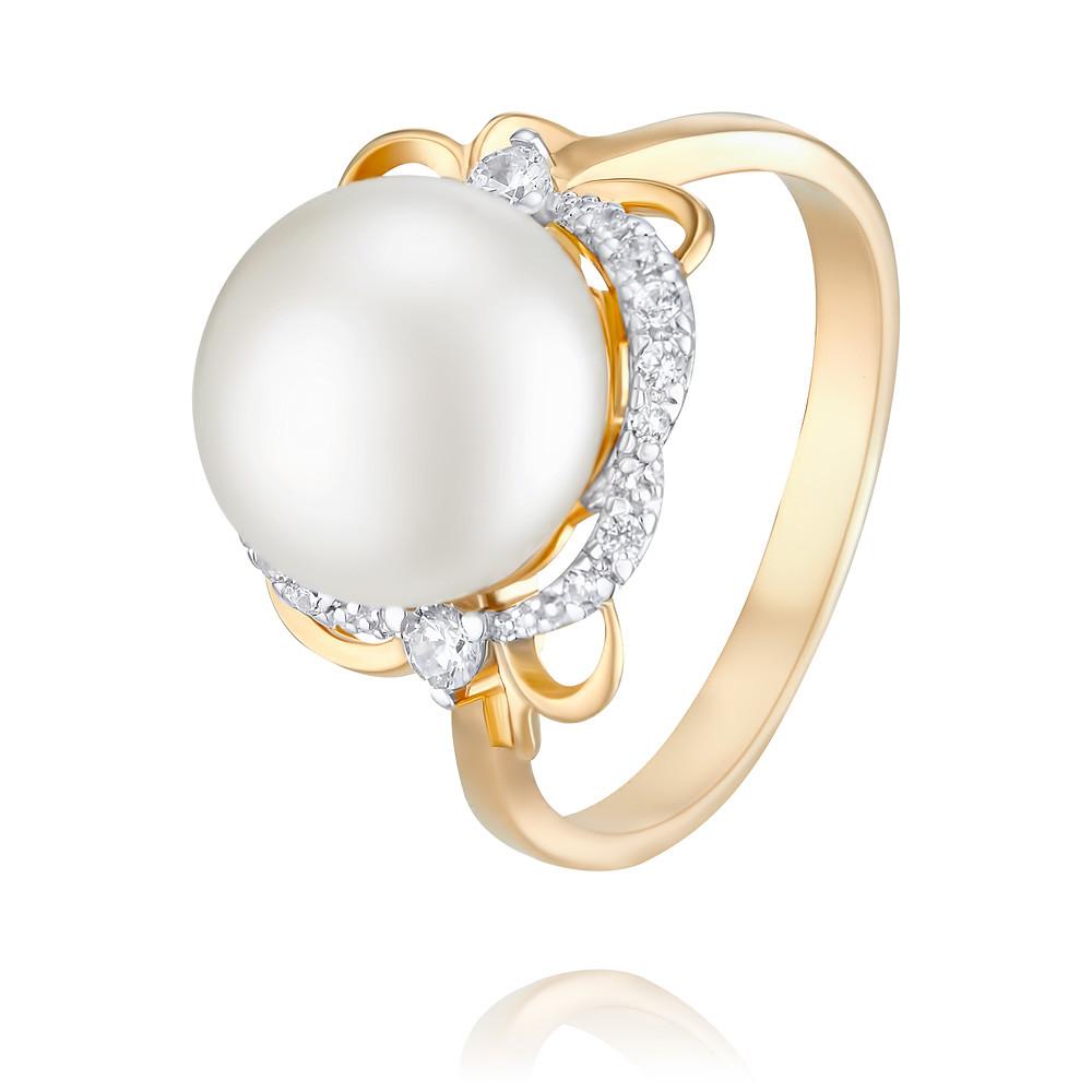 Кольцо из красного золота 585 пробы с жемчугомКольца<br><br><br>Вставка: Жемчуг<br>Вес: 4.66 г<br>Артикул: 1454874/01-А50Д-727<br>Цвет: Красный<br>Металл: Золото<br>Проба: 585<br>Пол: Для женщин