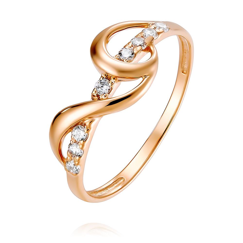 Кольцо из красного золота 585 пробы с фианитомКольца<br><br><br>Вставка: Фианит<br>Вес: 1.14 г<br>Артикул: 1454898/01-А50-72<br>Цвет: Красный<br>Металл: Золото<br>Проба: 585<br>Пол: Для женщин