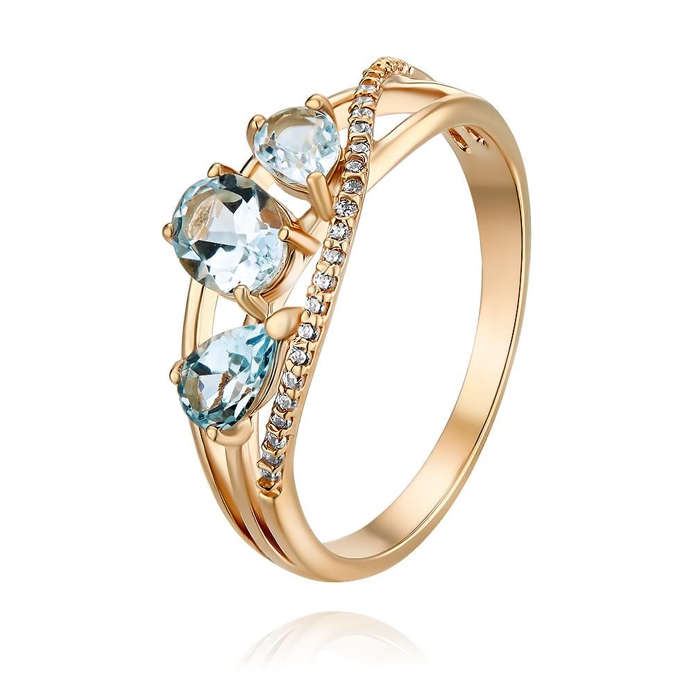 Купить Кольцо из красного золота 585 пробы с топазом, Другие, Красный, Для женщин, 1455263/01-А50Д-659