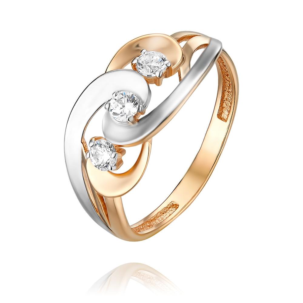 Купить Кольцо из красного золота 585 пробы с фианитом, Другие, Красный, Для женщин, 1455285/01-А50Д-72