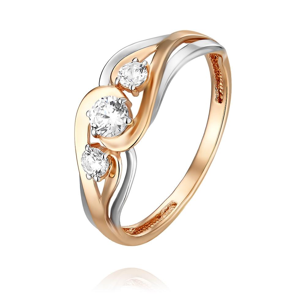 Купить Кольцо из красного золота 585 пробы с фианитом, Другие, Красный, Для женщин, 1455289/01-А50Д-72