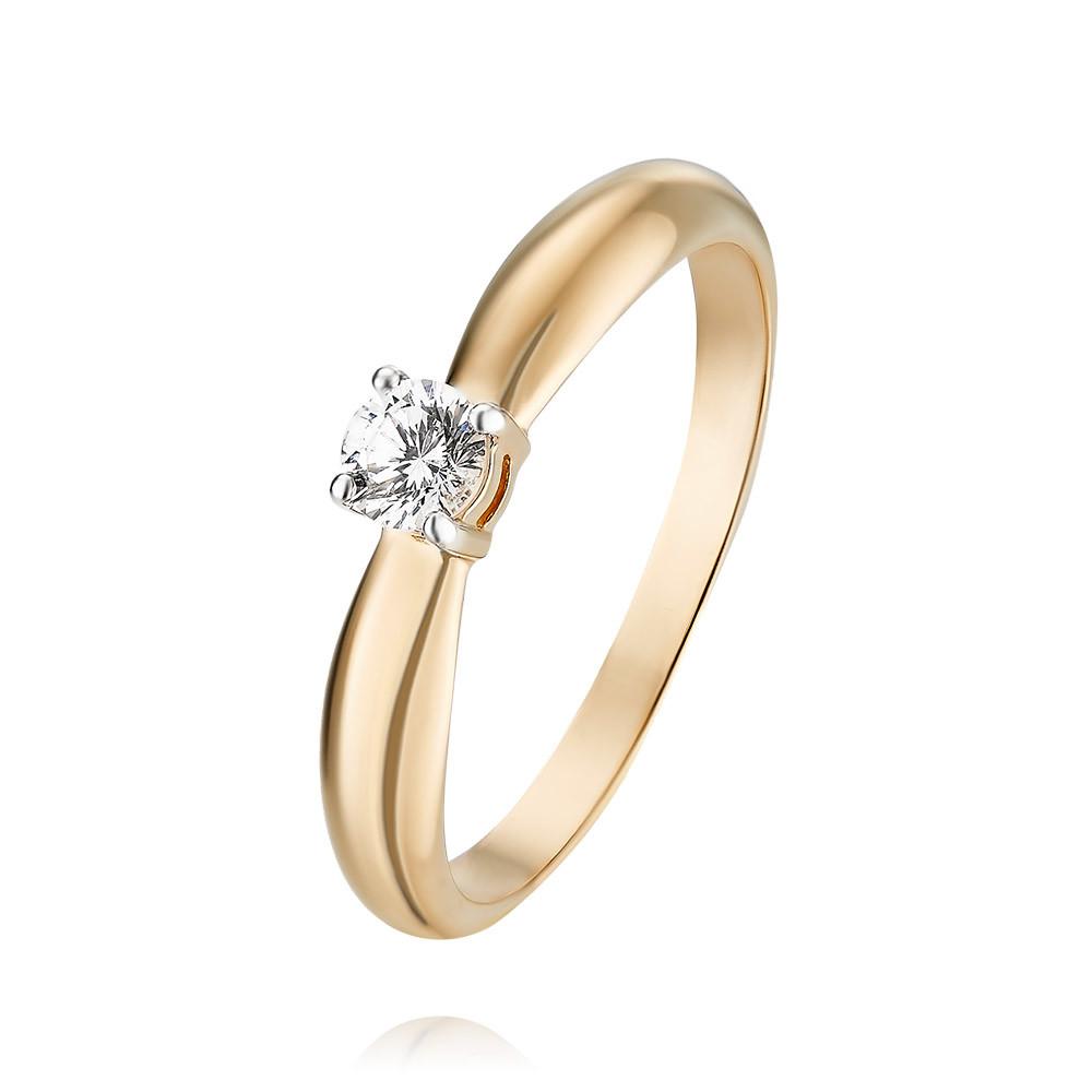 Купить Кольцо из красного золота 585 пробы с фианитом, Другие, Красный, Для женщин, 1455301/01-А50Д-72