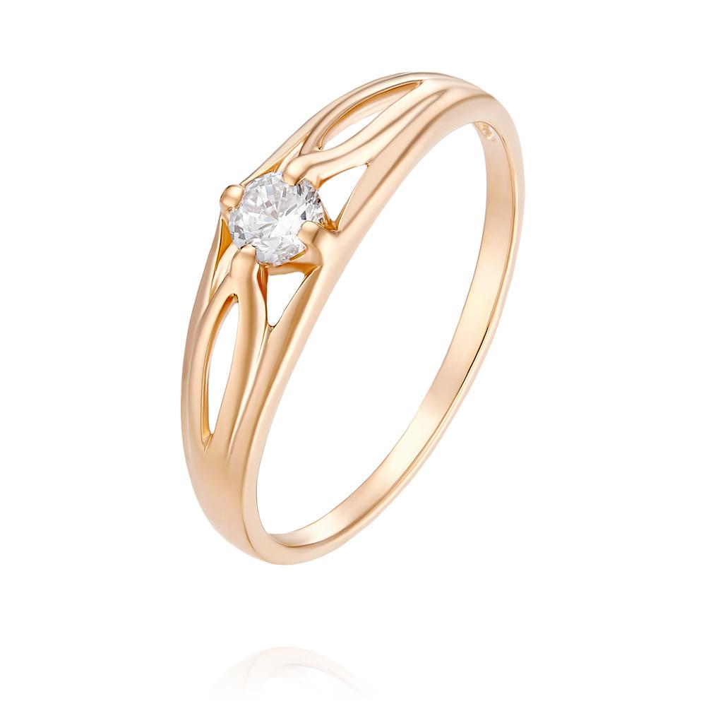 Кольцо из красного золота 585 пробы с фианитомКольца<br><br><br>Вставка: Фианит<br>Вес: 1.42 г<br>Артикул: 1455408/01-А50-72<br>Цвет: Красный<br>Металл: Золото<br>Проба: 585<br>Пол: Для женщин