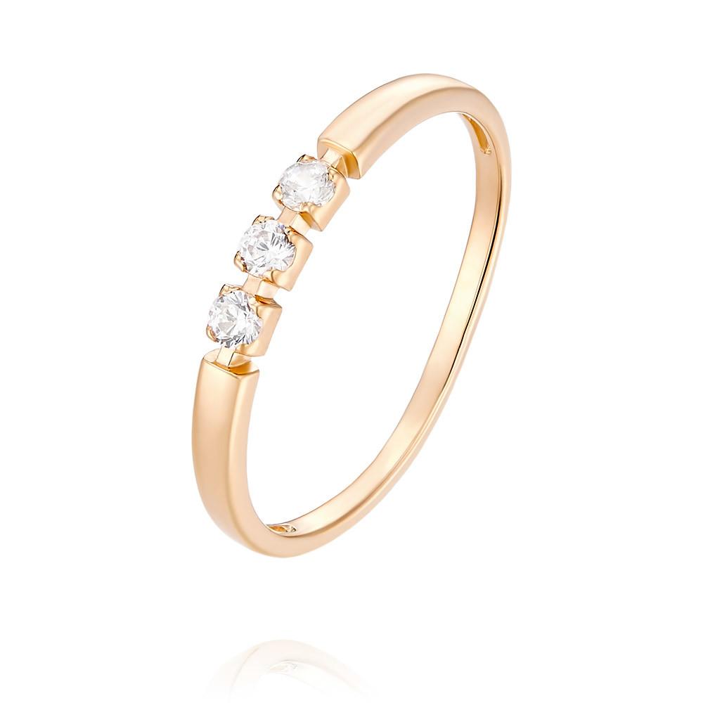 Кольцо из красного золота 585 пробы с фианитомКольца<br><br><br>Вставка: Фианит<br>Вес: 0.91 г<br>Артикул: 1455409/01-А50-72<br>Цвет: Красный<br>Металл: Золото<br>Проба: 585<br>Пол: Для женщин