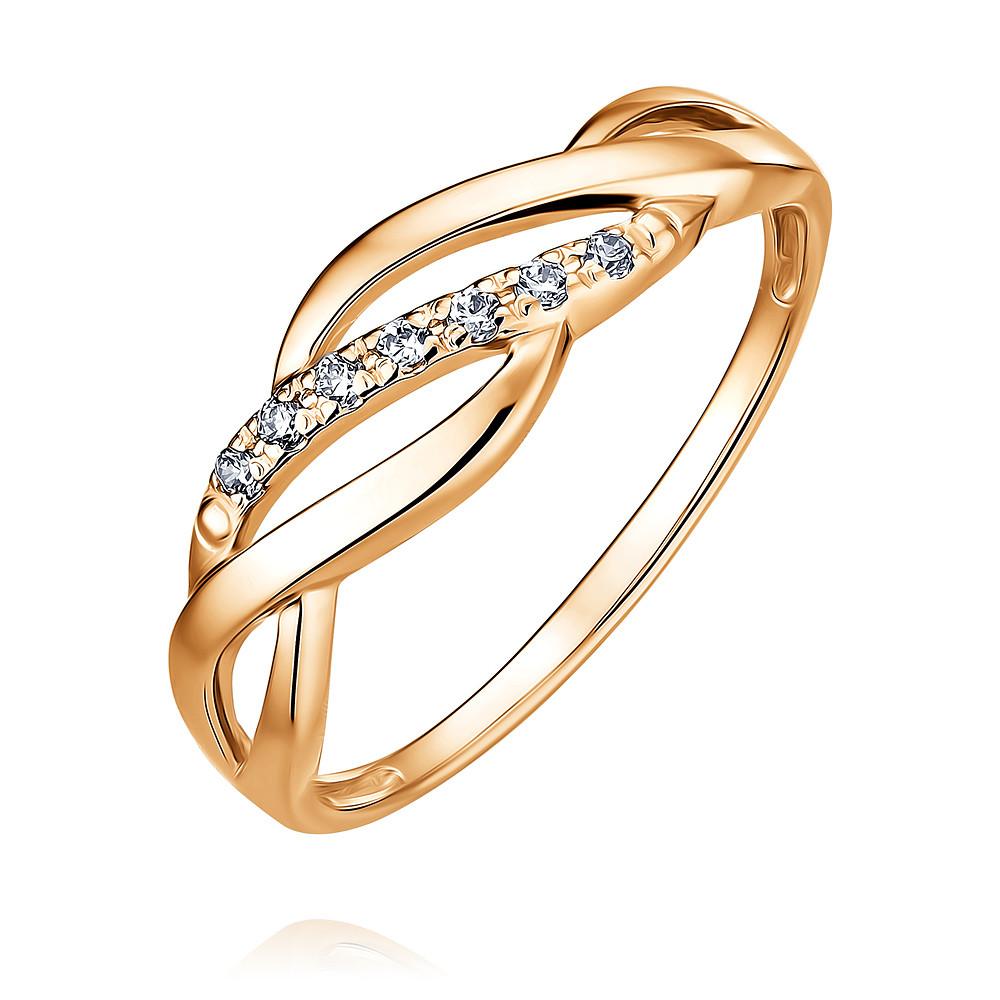 Купить Кольцо из красного золота 585 пробы с фианитом, Другие, Красный, Для женщин, 1455442/01-А50Д-72