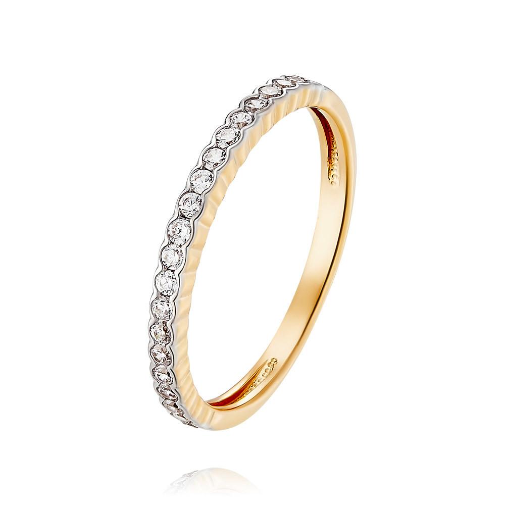 Купить Кольцо из красного золота 585 пробы с фианитом, Другие, Красный, Для женщин, 1455585/01-А50Д-72