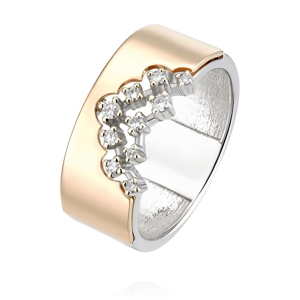 Купить Кольцо из красного золота 585 пробы с бриллиантом, Другие, Красный, Для женщин, 1455850/01-А501Д-41