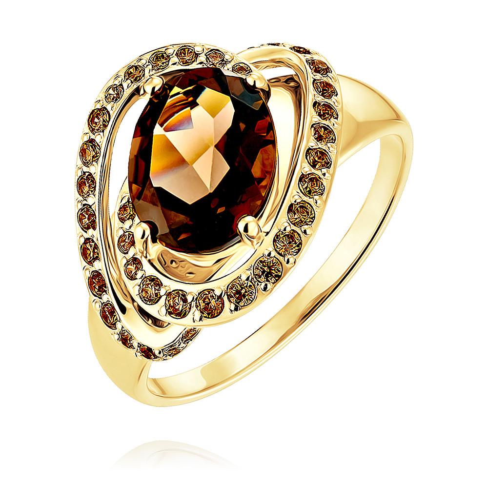 Купить Кольцо из желтого золота 585 пробы с кварцем, Другие, Желтый, Для женщин, 1455869/01-А55-726