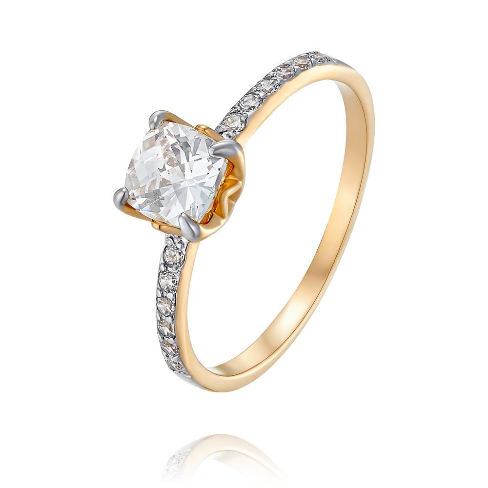Купить Кольцо из красного золота 585 пробы с фианитом, Другие, Красный, Для женщин, 1456021/01-А50Д-72