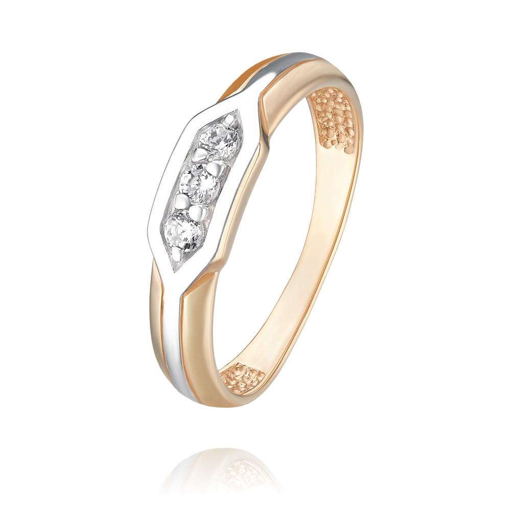 Купить Кольцо из красного золота 585 пробы с фианитом, Другие, Красный, Для женщин, 1456139/01-А50Д-72