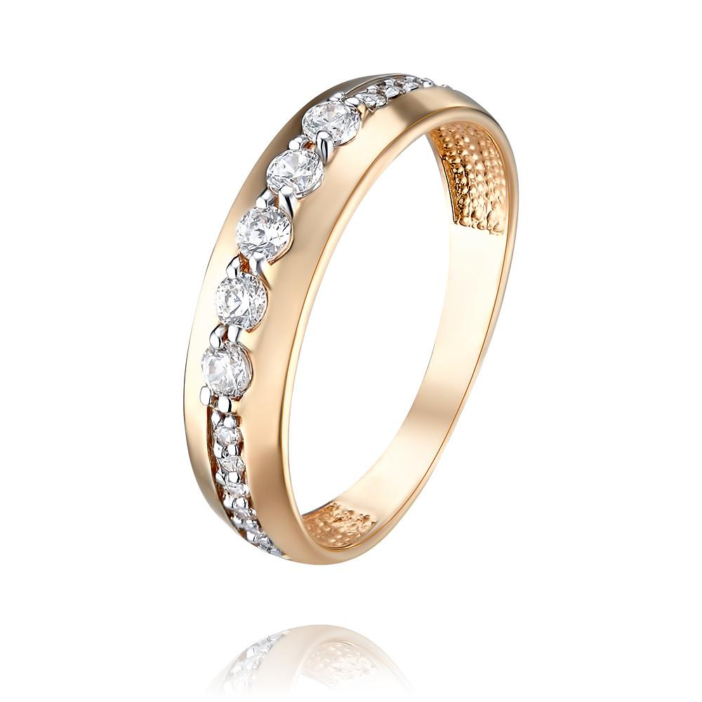 Купить Кольцо из красного золота 585 пробы с фианитом, Другие, Красный, Для женщин, 1456145/01-А50Д-72