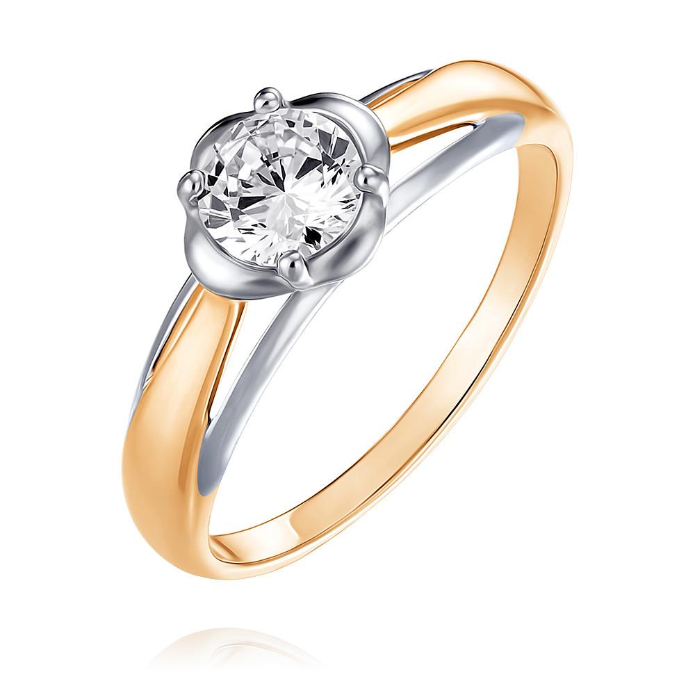 Купить Кольцо из красного золота 585 пробы с фианитом, SOKOLOV, Красный, Для женщин, 1456162/01-А50Д-72