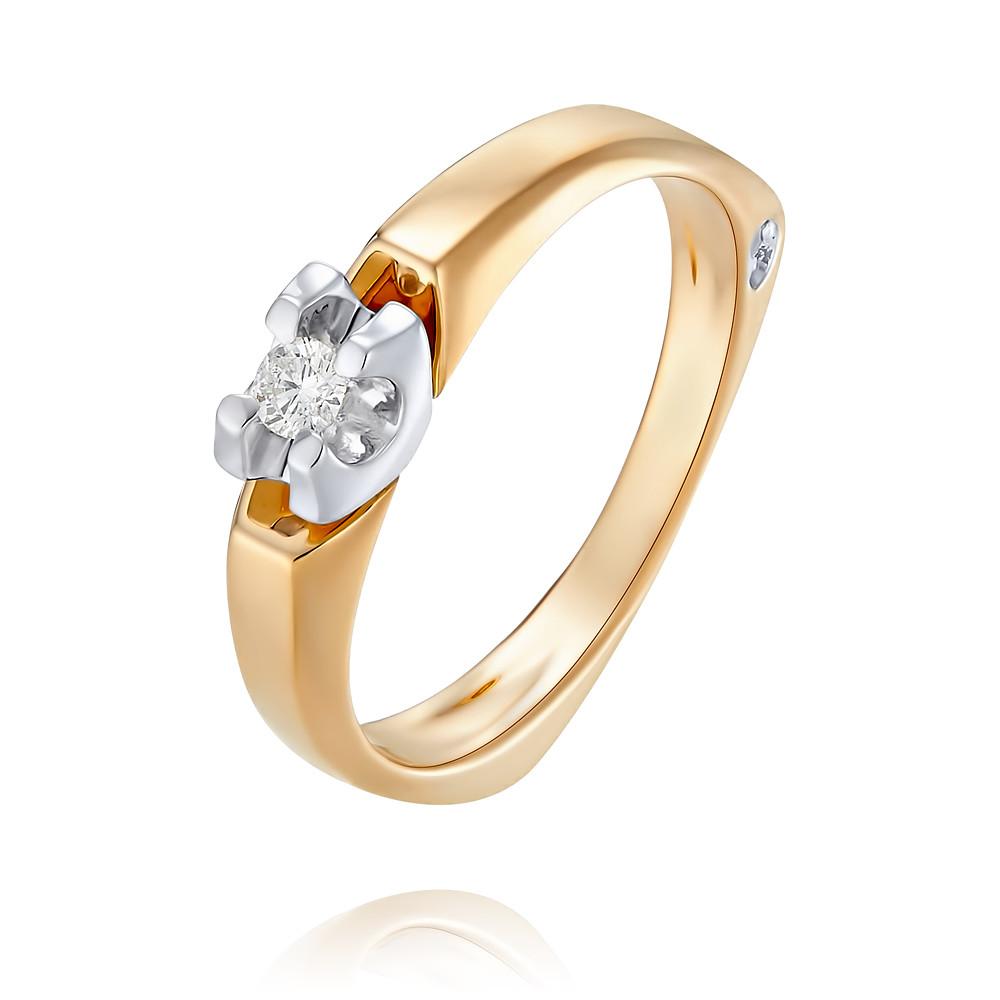 Купить Кольцо из красного золота 585 пробы с бриллиантом, SOKOLOV, Красный, Для женщин, 1456222/01-А50Д-41