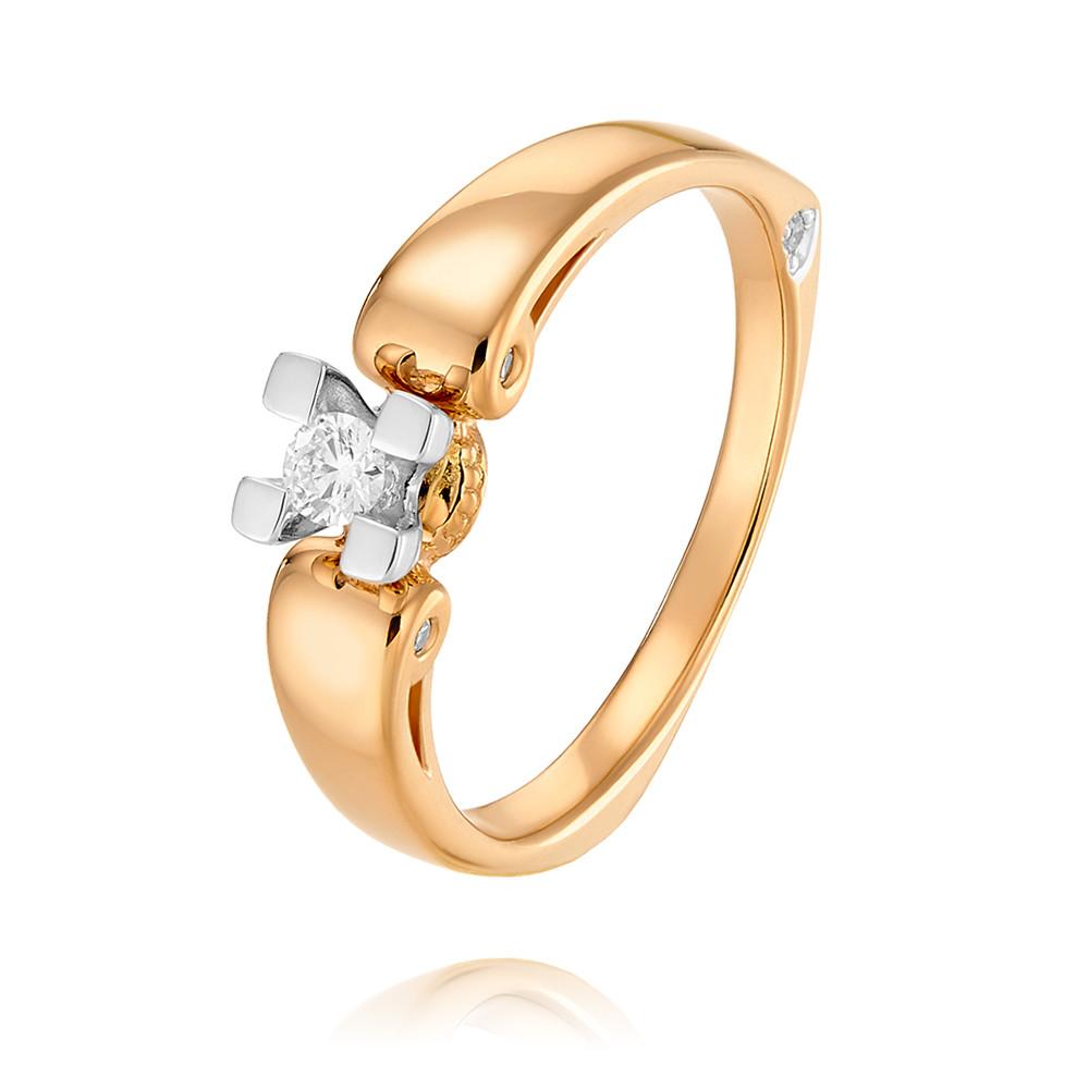 Купить Кольцо из красного золота 585 пробы с бриллиантом, SOKOLOV, Красный, Для женщин, 1456225/01-А50Д-41