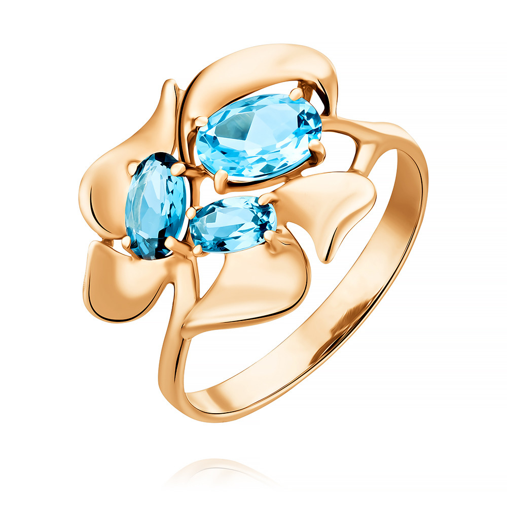 Купить Кольцо из красного золота 585 пробы с миксом вставок, Другие, Красный, Для женщин, 1456370/01-А50-670