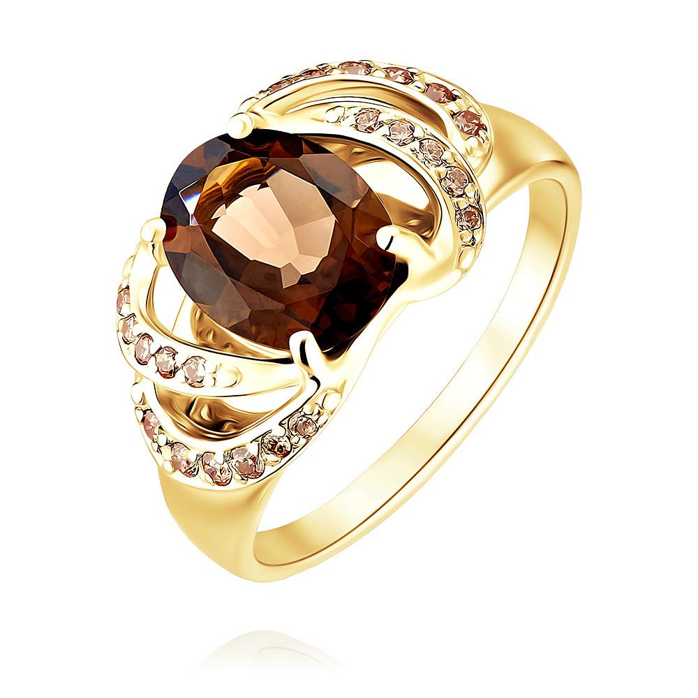 Кольцо из желтого золота 585 пробы с кварцемКольца<br><br><br>Вставка: Кварц дымчатый<br>Вес: 3.12 г<br>Артикул: 1456406/01-А55-726<br>Цвет: Желтый<br>Металл: Золото<br>Проба: 585<br>Пол: Для женщин