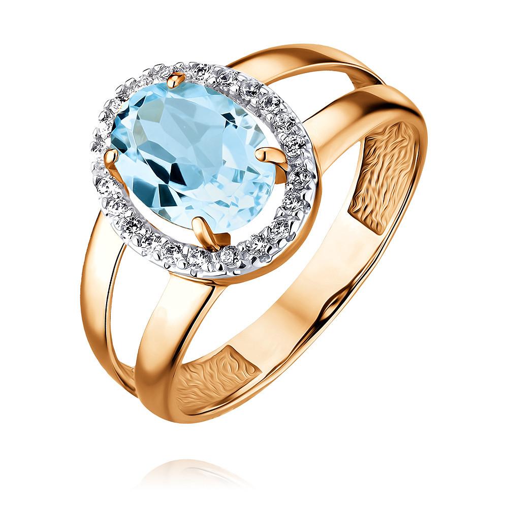 Купить Кольцо из красного золота 585 пробы с топазом, Другие, Красный, Для женщин, 1456566/01-А50Д-659