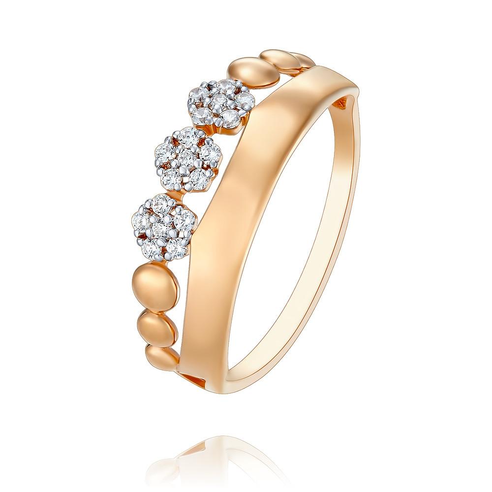 Кольцо из красного золота 585 пробы с фианитомКольца<br><br><br>Вставка: Фианит<br>Вес: 1.39 г<br>Артикул: 1456800/01-А50Д-72<br>Цвет: Красный<br>Металл: Золото<br>Проба: 585<br>Пол: Для женщин