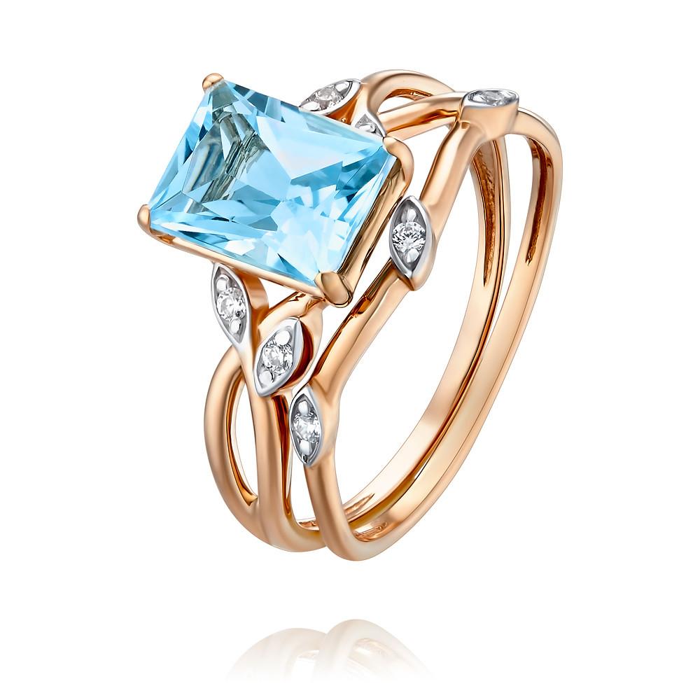 Купить Кольцо из красного золота 585 пробы с топазом, Другие, Красный, Для женщин, 1456812/01-А50Д-659