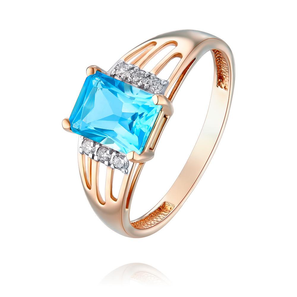Купить Кольцо из красного золота 585 пробы с топазом, Другие, Красный, Для женщин, 1456883/01-А50Д-659