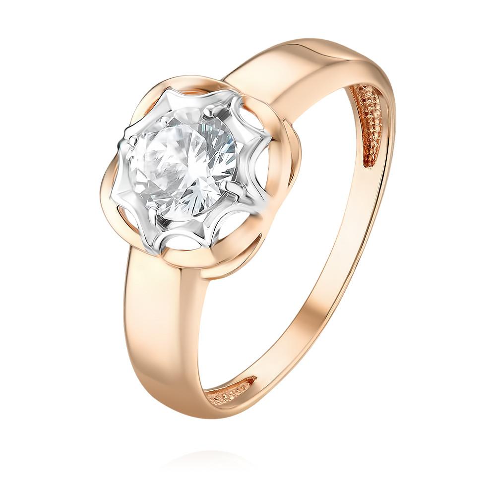 Купить Кольцо из красного золота 585 пробы с фианитом, Другие, Красный, Для женщин, 1457061/01-А50Д-72