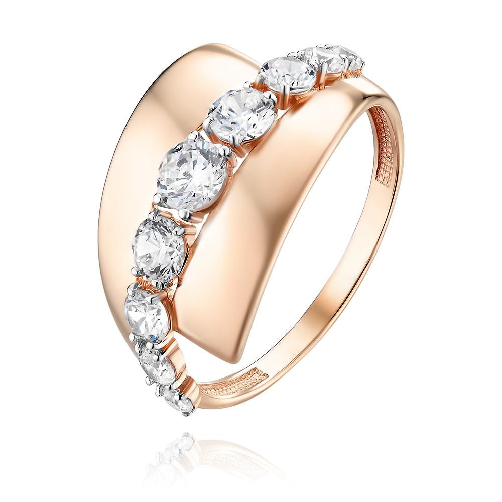 Купить Кольцо из красного золота 585 пробы с фианитом, Другие, Красный, Для женщин, 1457105/01-А50Д-72