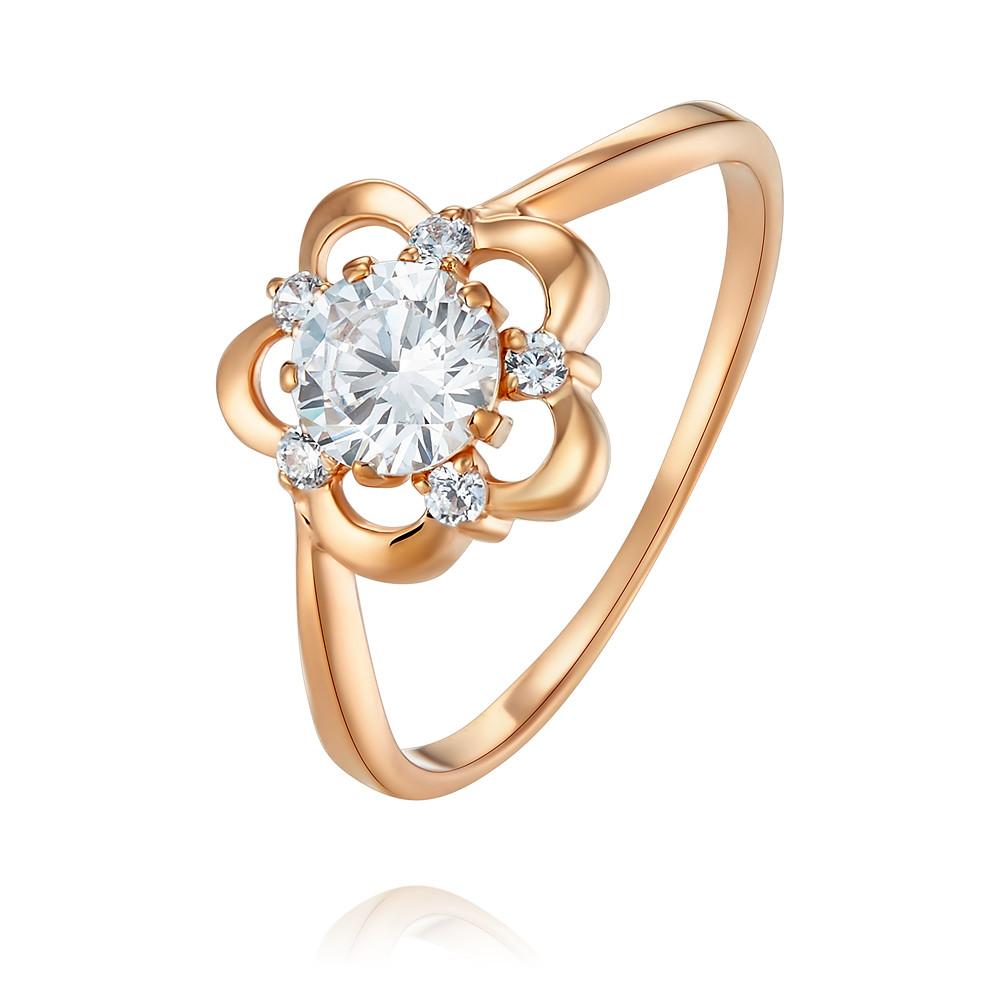 Кольцо из красного золота 585 пробы с фианитомКольца<br><br><br>Вставка: Фианит<br>Вес: 1.51 г<br>Артикул: 1457143/01-А50-72<br>Цвет: Красный<br>Металл: Золото<br>Проба: 585<br>Пол: Для женщин