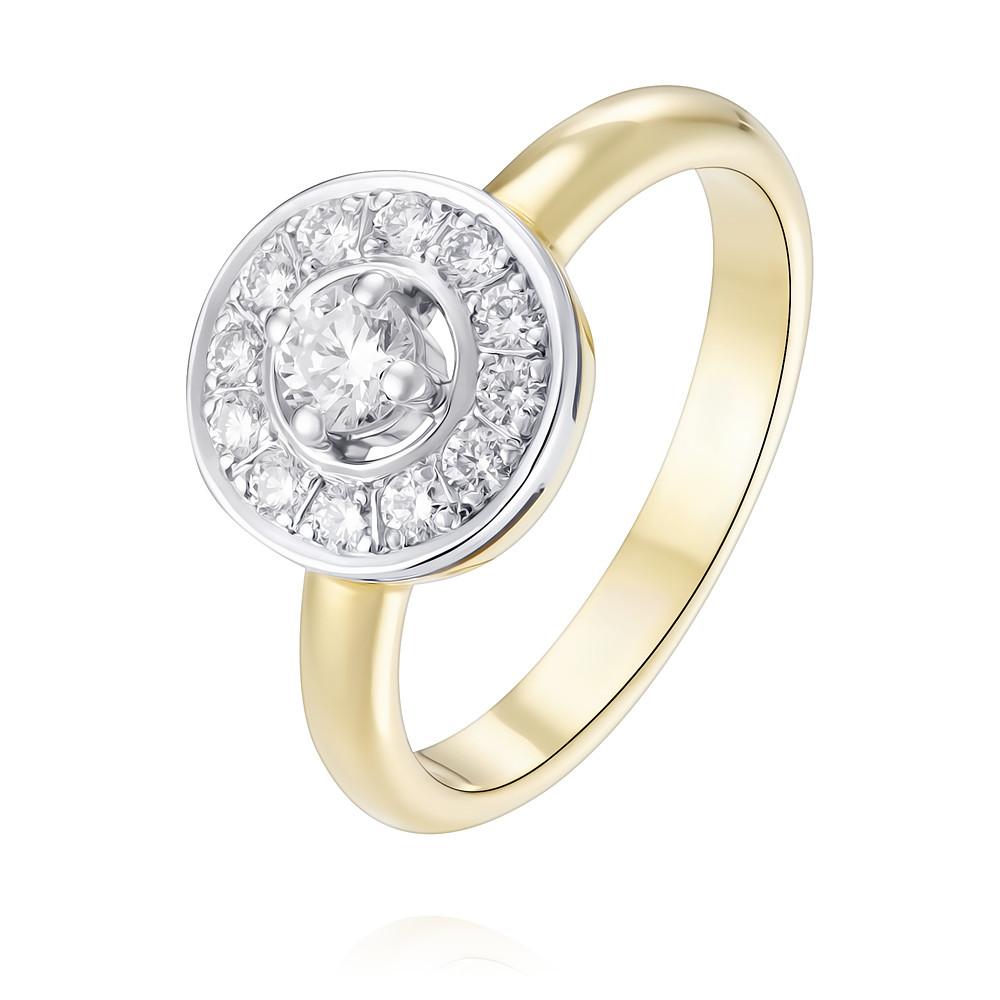 Кольцо из желтого золота 750 пробы с бриллиантом