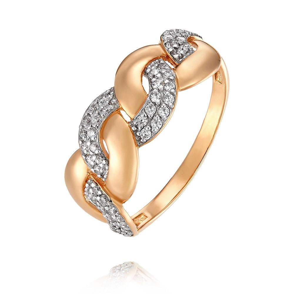 Купить Кольцо из красного золота 585 пробы с фианитом, Другие, Красный, Для женщин, 1457741/01-А50Д-72