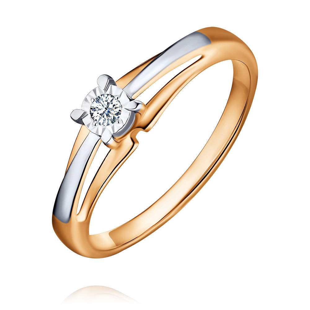 Купить Кольцо из красного золота 585 пробы с бриллиантом, SOKOLOV, Красный, Для женщин, 1554608/01-А50Д-41