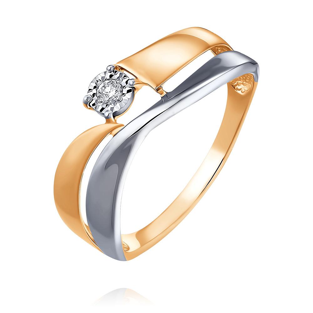 Купить Кольцо из красного золота 585 пробы с бриллиантом, SOKOLOV, Красный, Для женщин, 1554609/01-А50Д-41