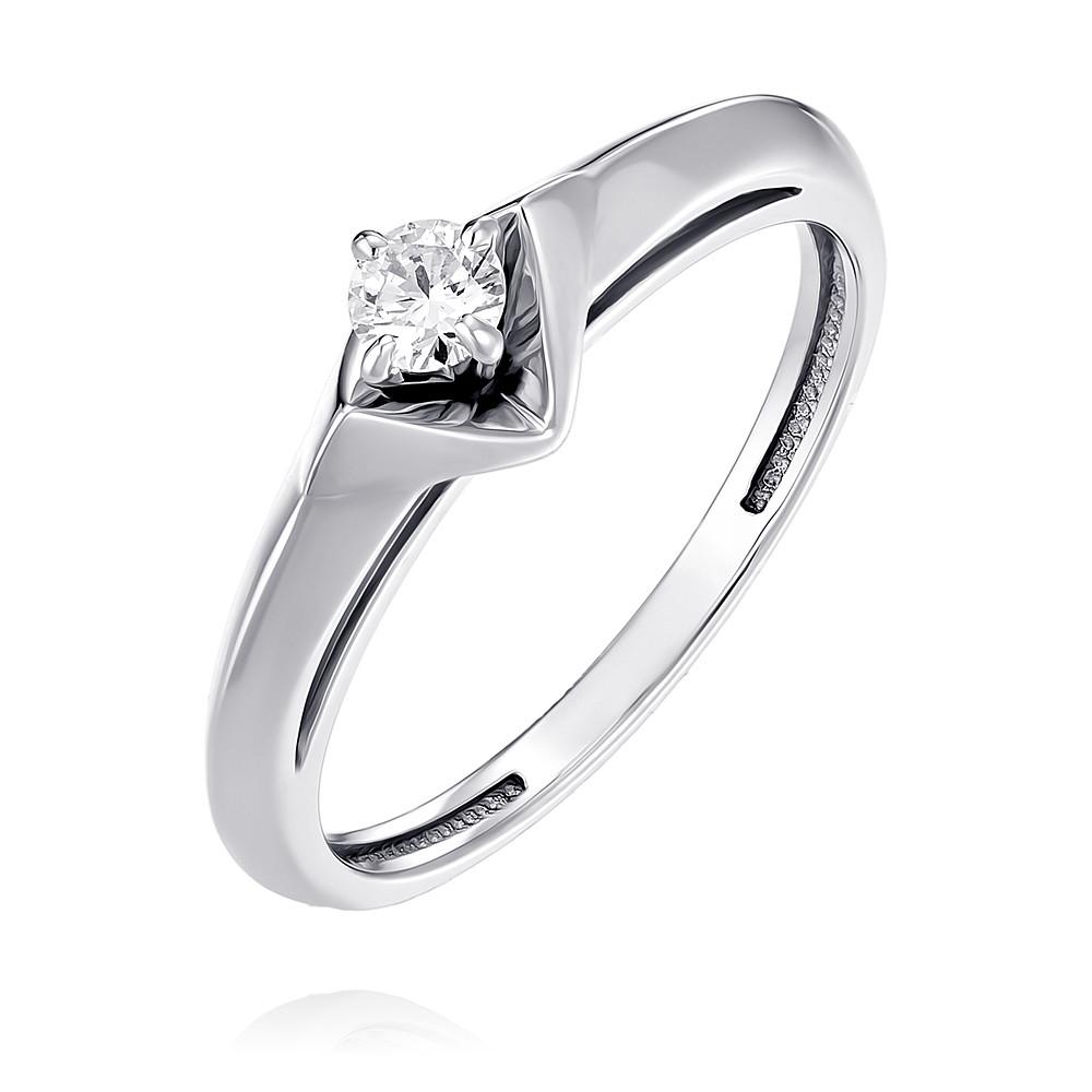 Купить Кольцо из белого золота 585 пробы с бриллиантом, Другие, Белый, Для женщин, 1555911/01-А511Д-41