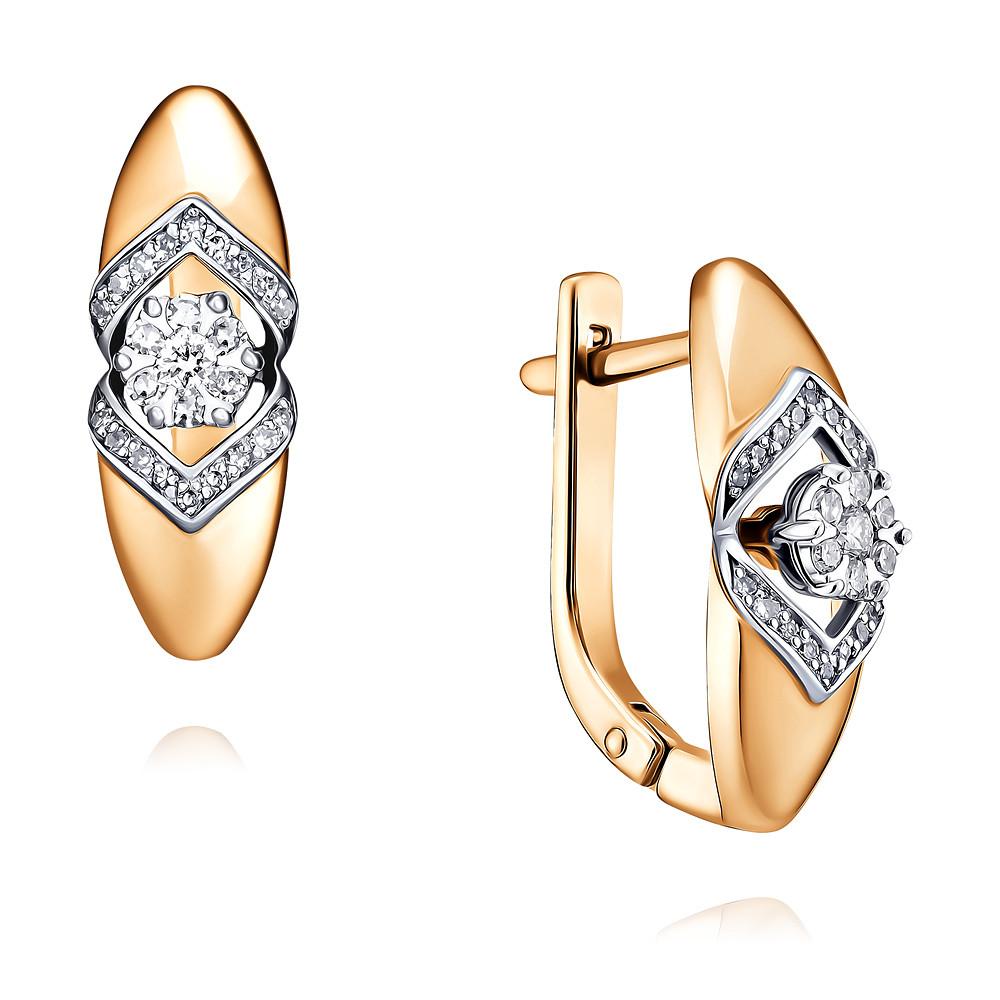 Купить Серьги из красного золота 585 пробы с бриллиантом, SOKOLOV, Красный, Для женщин, 2451321/01-А50Д-41