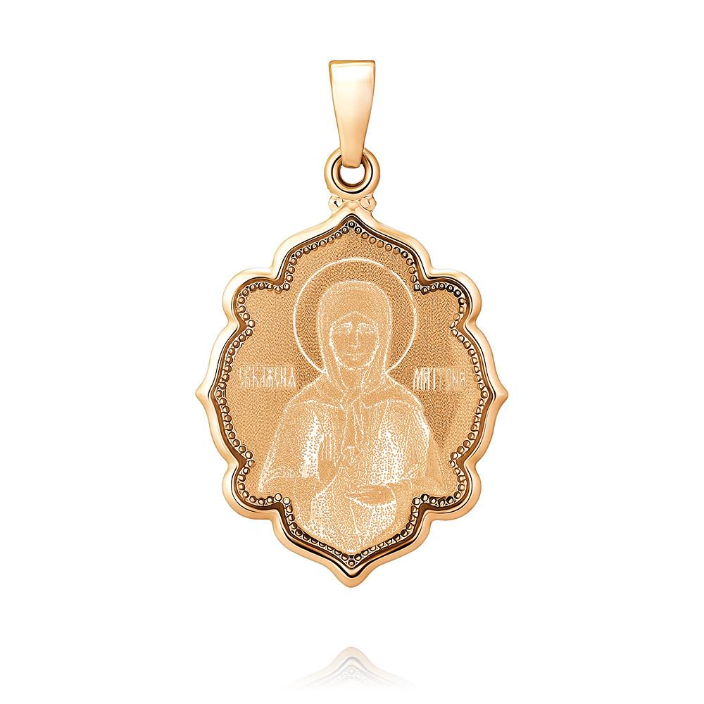 Купить Икона из красного золота 585 пробы с бирюзой, SOKOLOV, Красный, 3250489/01-А50-01